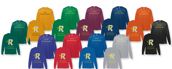 Available wicking long sleeve shirt colors.