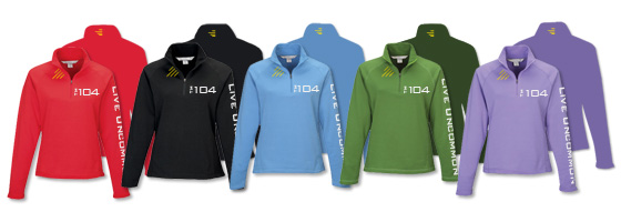 Available  Ladies Heavyweight Half-Zip Pullover Colors