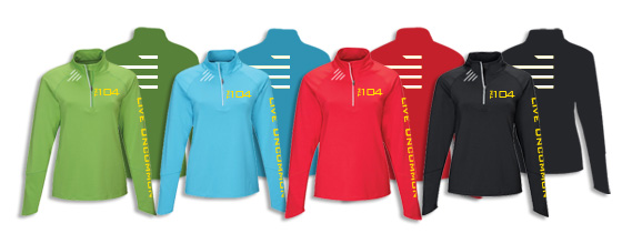Available  Ladies Lightweight Half-Zip Pullover Colors
